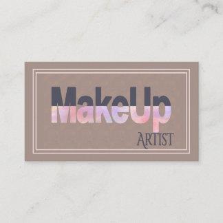 Modern Makeup Artist Minimalist with Social Media Business Card