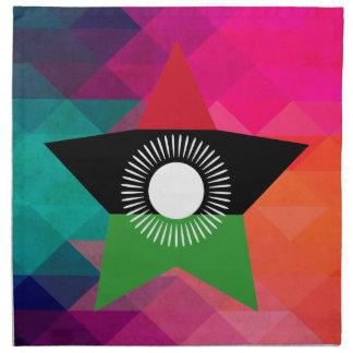 Modern Malawi Flag Napkin