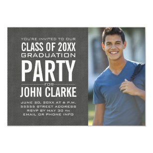 High school graduation invitations announcements zazzle modern male grad graduation party invitation filmwisefo