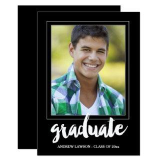 Modern Male Photo Frame Graduation Party Invite