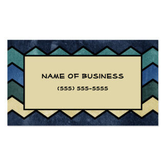 Modern Manly Blue Chevrons Double-Sided Standard Business Cards (Pack Of 100)