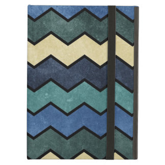 Modern Manly Blue Chevrons iPad Air Cases