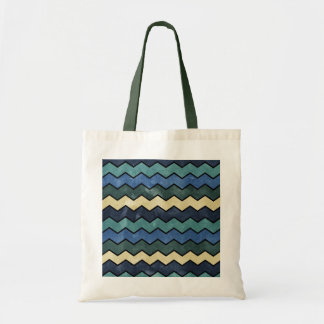 Modern Manly Blue Chevrons Tote Bag
