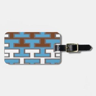 Modern Manly Bricks Bag Tag