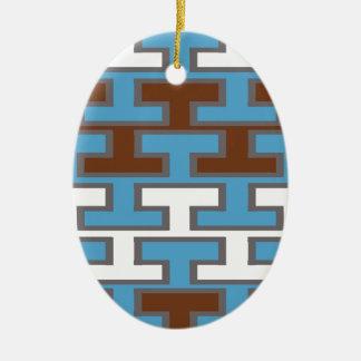 Modern Manly Bricks Ceramic Ornament