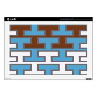 "Modern Manly Bricks Skin For 17"" Laptop"