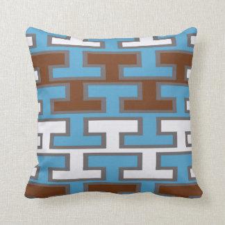 Modern Manly Bricks Throw Pillow