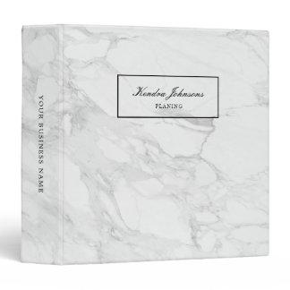 Modern marble 3 ring binder