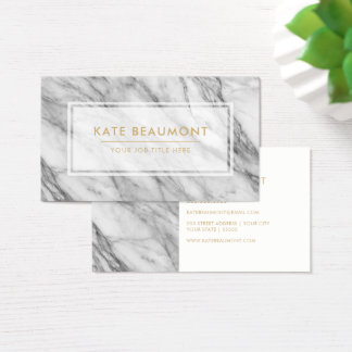 Modern Marble business card
