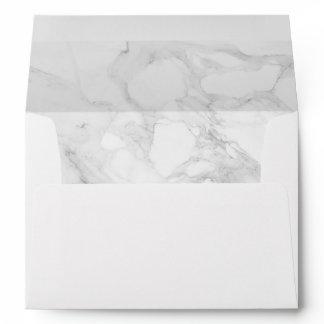 Modern marble envelope