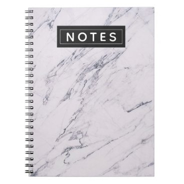 Wedding Themed Modern Marble Grey White Black Chic Personalized Notebook