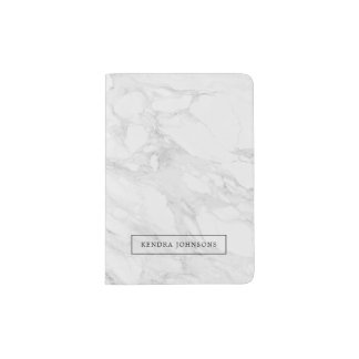 Modern marble passport holder