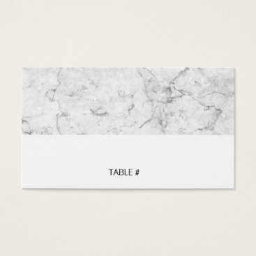 Professional Business Modern marble place cards - flat