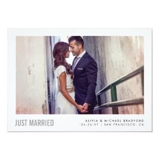 Modern Married | Wedding Announcement