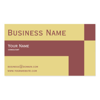 modern marsala Double-Sided standard business cards (Pack of 100)