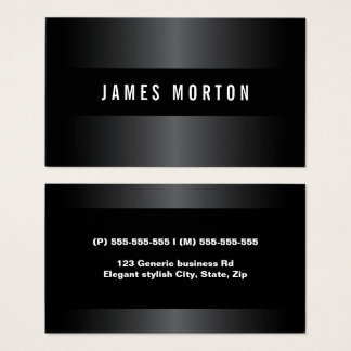 Modern masculine black gray stylish professional business card