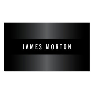 Modern masculine black gray stylish professional Double-Sided standard business cards (Pack of 100)