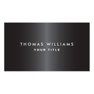 Modern masculine dark gray professional profile business card