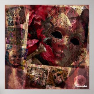 Modern Masks Design Poster