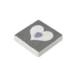 Modern Massachusettsan flag Stone Magnet