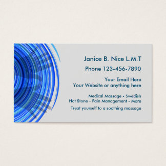 Modern Massage Business Card