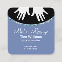Modern Massage Unique Design Square Business Card