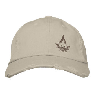 Modern Master Mason distressed hat
