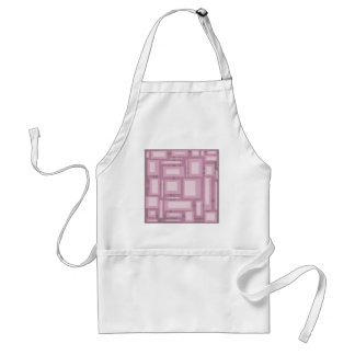 Modern Mauve Abstract Adult Apron