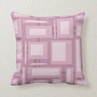 Modern Mauve Abstract Shapes, Plain Mauve Back Throw Pillows