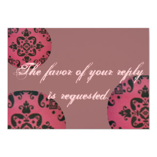 Modern Mauve Wedding Response Card