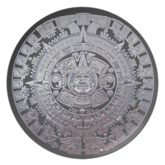 Modern Mayan Calendar Dinner Plate