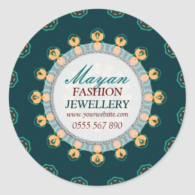 Modern Mayan Fashion Jewellery Product Sticker