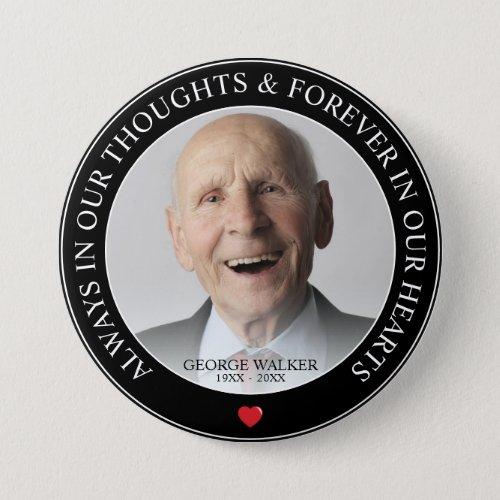 Modern Memorial Photo Tribute  Funeral Button