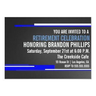 Modern Men's Retirement Party Celebration Invite