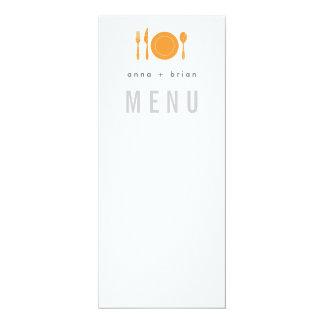 Modern Menu with Silverware & Plate Card