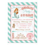 "Modern Mermaid Birthday Party Invitation 5"" X 7"" Invitation Card"