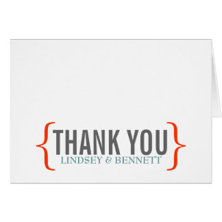 Modern Merriment Folded Thank You Note Stationery Note Card