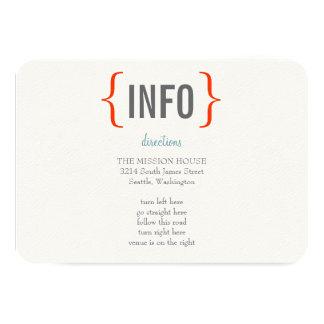 Modern Merriment Wedding Insert 3.5x5 Paper Invitation Card