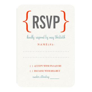 Modern Merriment Wedding Response 3.5x5 Paper Invitation Card