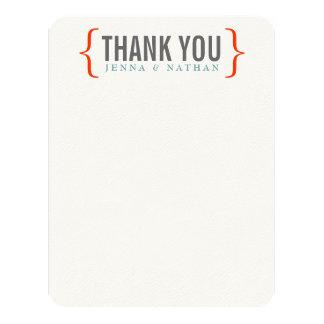Modern Merriment Wedding Thank You (flat) 4.25x5.5 Paper Invitation Card