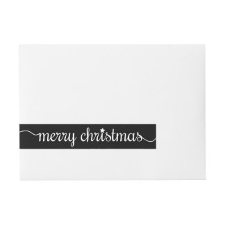 Modern Merry Christmas Address Label Wraparound Address Label