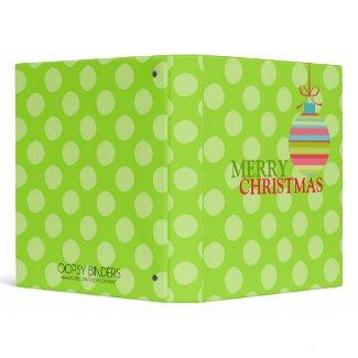 Modern Merry Christmas Ball Ornament binder