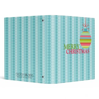 Modern Merry Christmas Ball Ornament binder