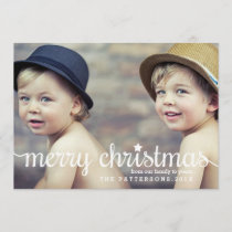 Modern Merry Christmas Big Photo Card