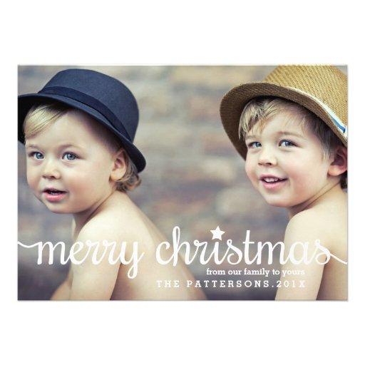 Modern Merry Christmas Big Photo Card