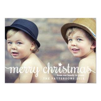 "Modern Merry Christmas Big Photo Card 5"" X 7"" Invitation Card"