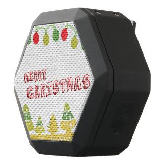 Modern Merry Christmas Design Black Bluetooth Speaker