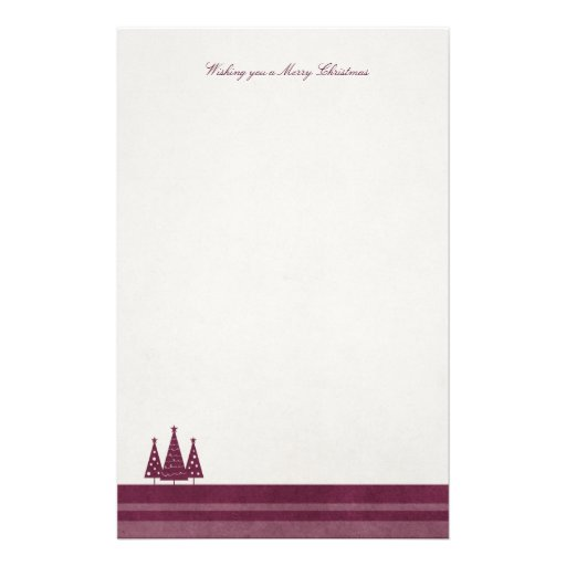 Modern Merry Christmas Earthy Tones Stationery