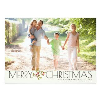 Modern Merry Christmas Family Photo Greeting Card