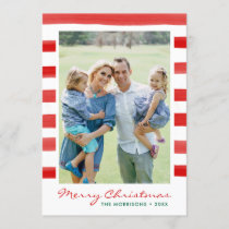 Modern Merry Christmas Family Photo Holiday